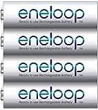 Panasonic Battery Eneloop Shrink BK-3MCCE/4SN AA Rechargable Battery (White)