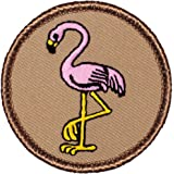 "Pink Flamingo Patrol Patch - 2"" Round!"