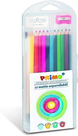 Primo P495MAT12AP - Pack de 12 lápices de colores con goma de borrar y sacapuntas , color/modelo surtido: Amazon.es: Juguetes y juegos