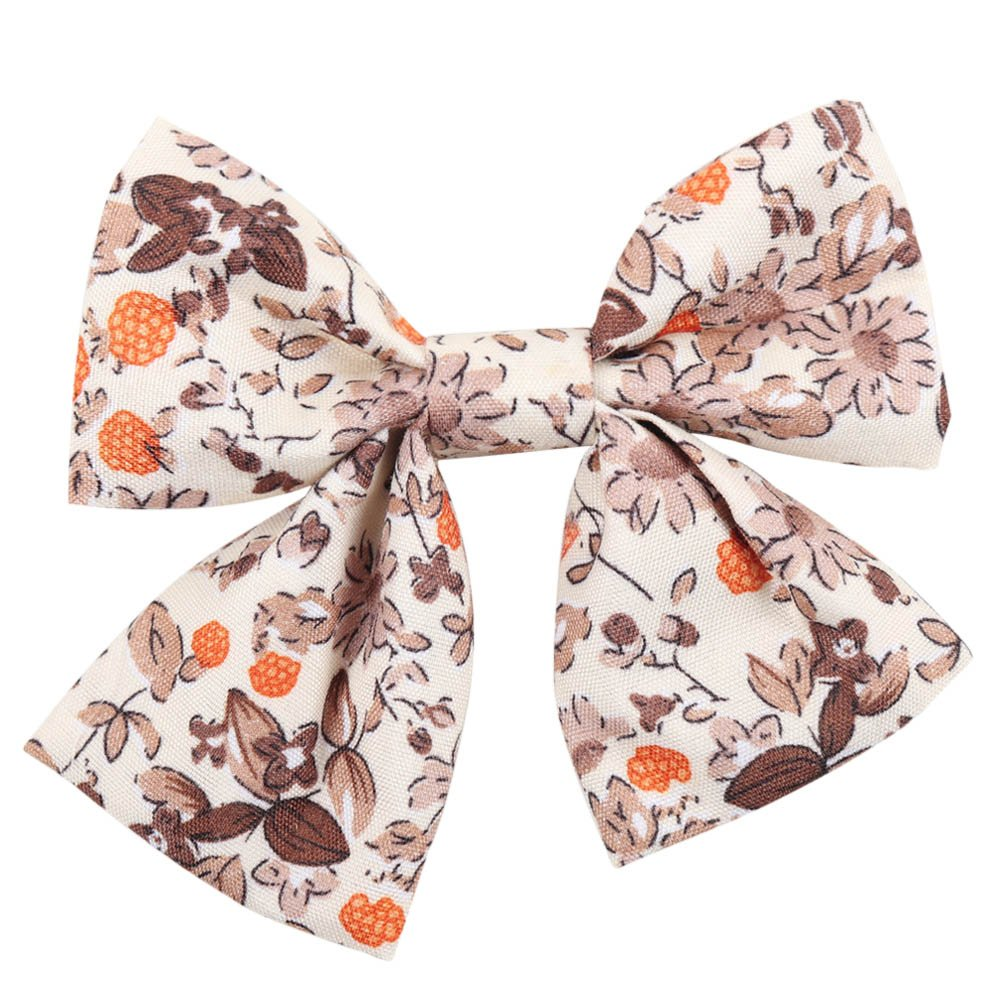 Oaoleer 10pcs 3.5'' Fabric Ribbon Hair Bows with Clips for Baby Toddler Girls Teens by Oaoleer (Image #3)