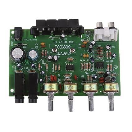 Prettyia Dc 12v Hifi Tone Control Board Kit Stereo Audio Amplifier