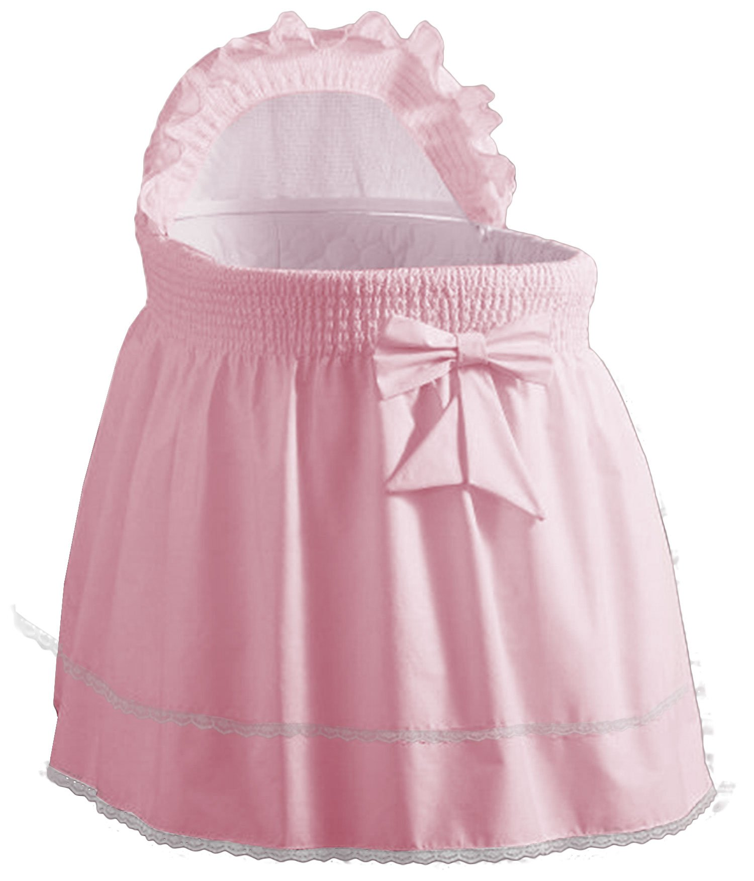 Baby Doll Bedding Classic Sea Shell Bassinet Bedding for girl,pink