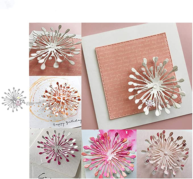 Metal Cutting Dies for Card Making Kids DIY Puzzle Toy Circle Dot Lace Cutting Dies DIY Scrapbook Emboss Paper Cards Craft Stencil Mold Silver