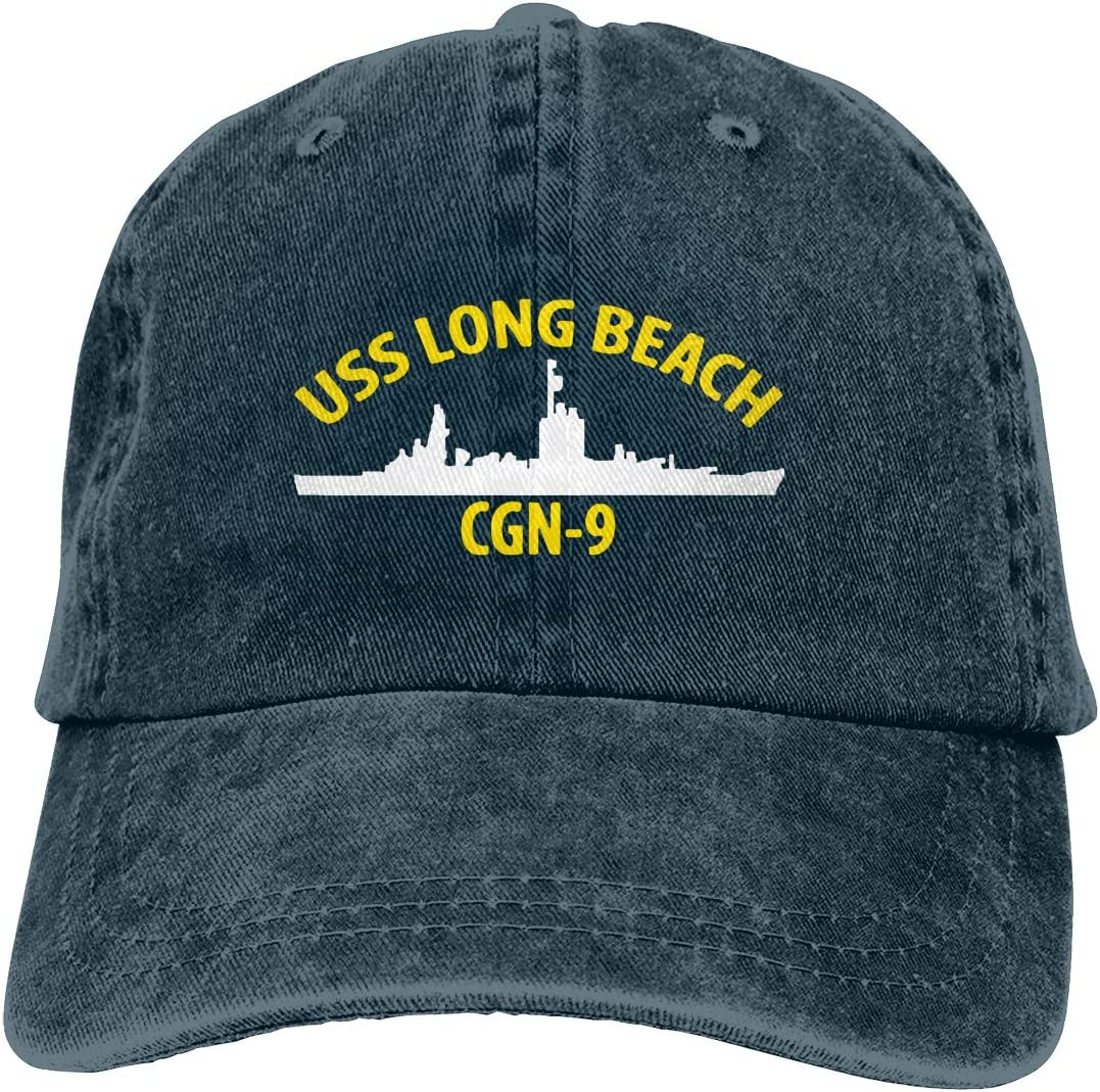 ODEKVSGX American Flag by U.S Veterans Owned USS Long Beach CGN-9 Mans Womens Cowboy Hat