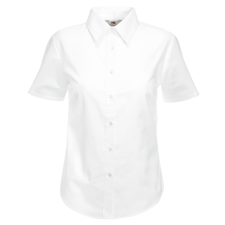 Mädchen Schule Bluse Shirt Short Sleeve Weiß Sky Blau Alter 3–18Jahren