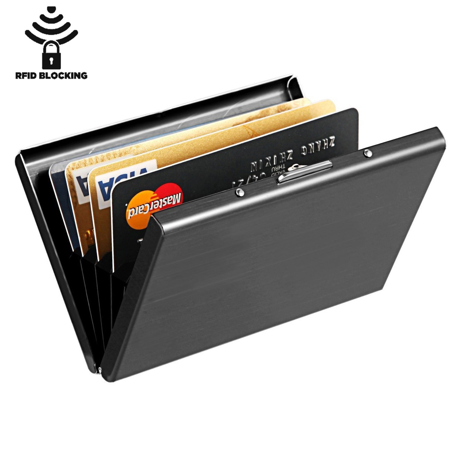 Amazon.com: Maxgear Stainless Steel RFID Credit Card Holder for ...