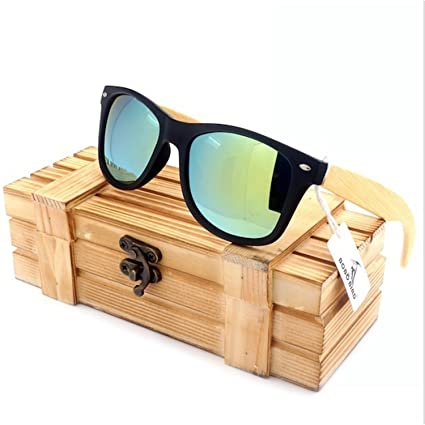 b0ed2127c76 Amazon.com  JapanX Bamboo Sunglasses   Wood Wooden Sunglasses for ...