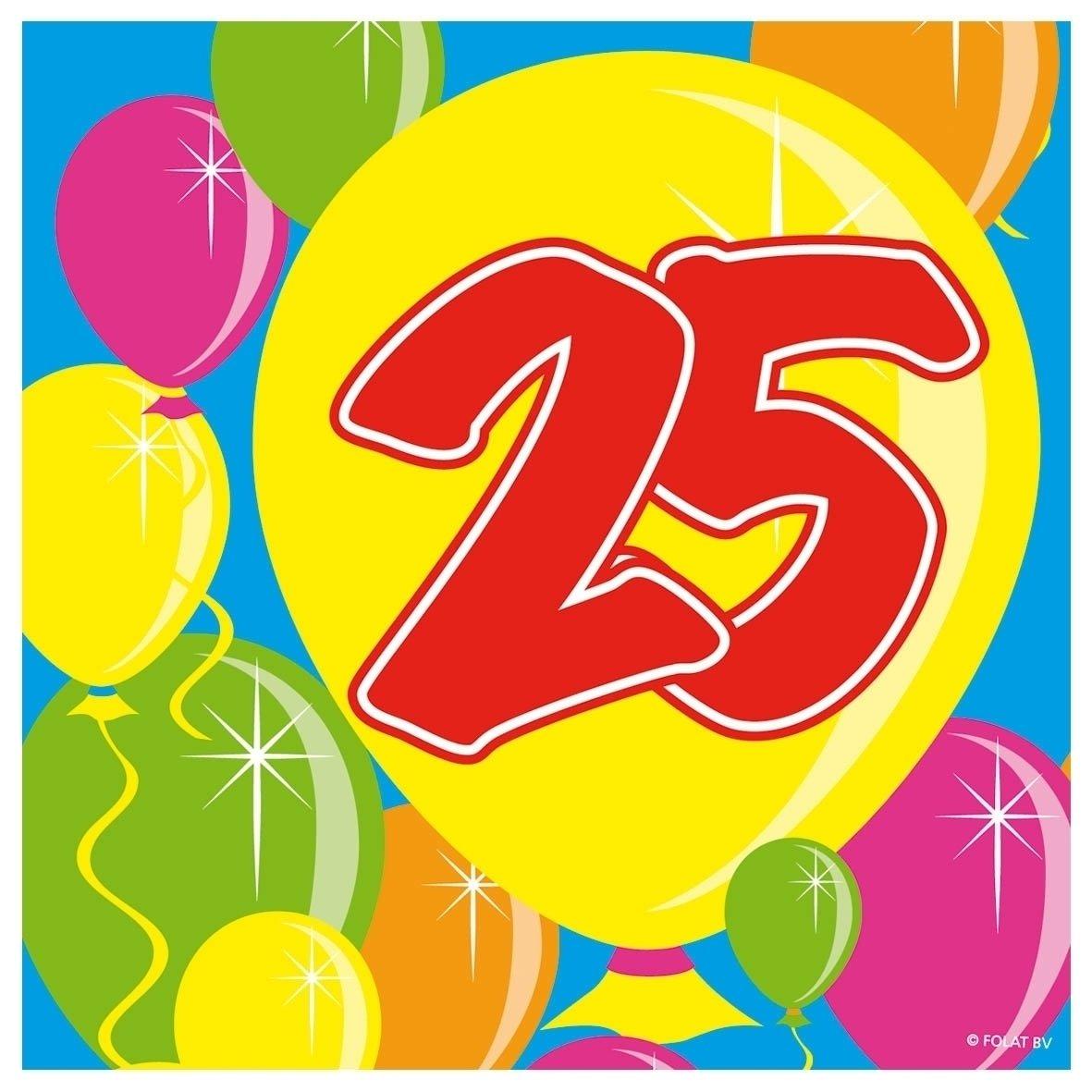 20 Tovaglioli 25 ° Anniversario Folat B.V.