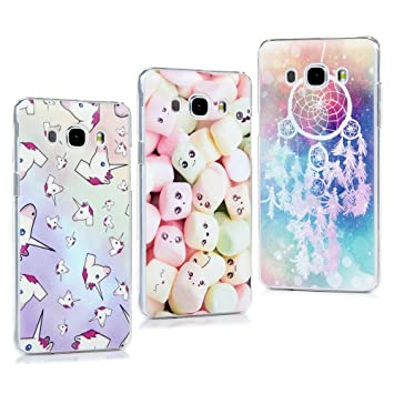 3 Unidades Funda J5 2016, Carcasa Ultrafina Elegante para Samsung Galaxy J5 2016, Plástico Rígido Cover Case, Funda Protectora Anti-Rasguño y Anti ...