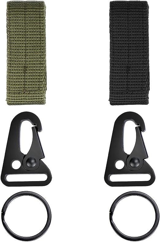 Coolty 10 Pezzi Moschettone Tattico da Appendere alla Cintura con Fibbia per Zaini Campeggio Escursionismo attivit/à allAria Aperta