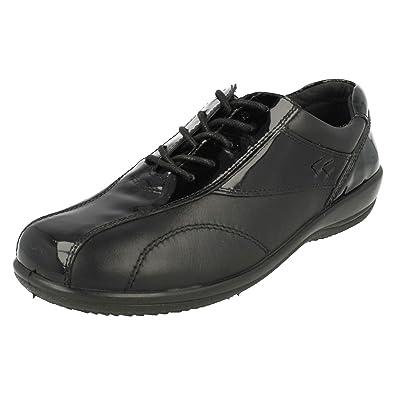 Padders KIRSTEN Ladies Leather Super Wide//Plus Touch Fasten Shoes Gun Metal Grey