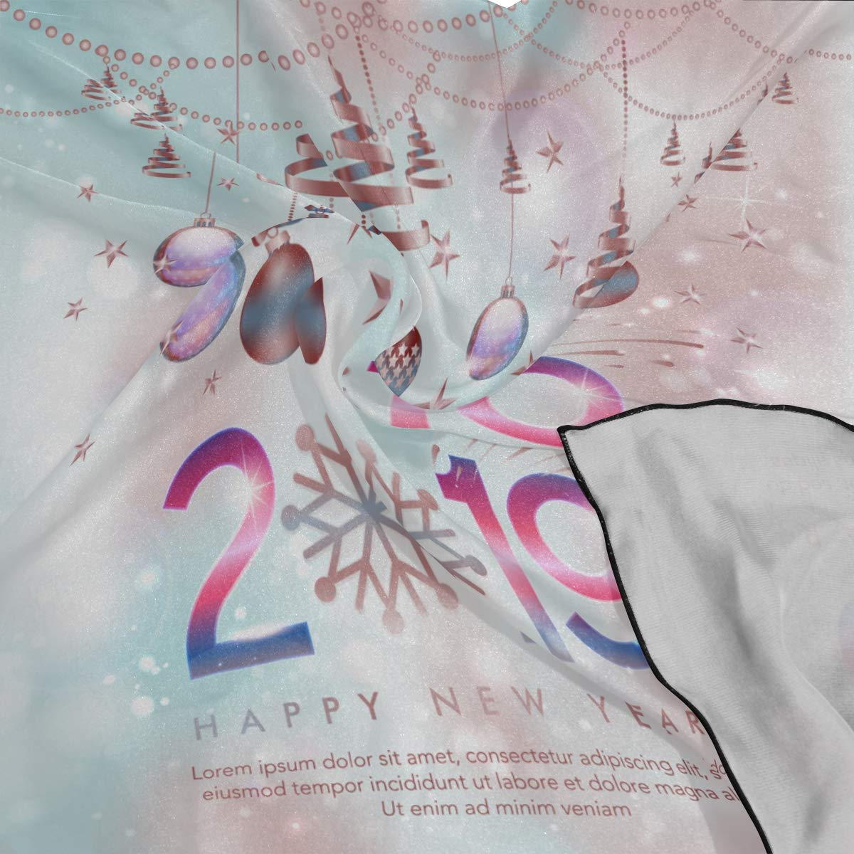 Soft Polyester Silk Women Neck Scarf Fashion Print Beautiful Star Sky 2019 Men Head Scarf Ladys Scarves Square Scarves For Women Multiple Ways Of Wearing Daily Decor