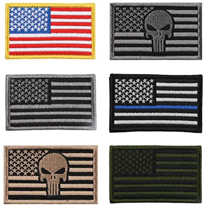 Amazon.com  Soleebee 6 Pieces USA Flag Tactical Velcro Patches ... 8862ffdbf72e