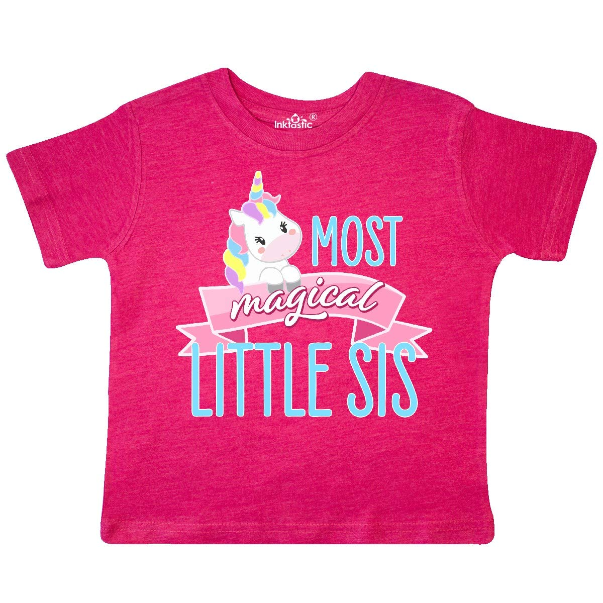 Cute Unicorn Toddler T-Shirt inktastic Most Magical Little Sis