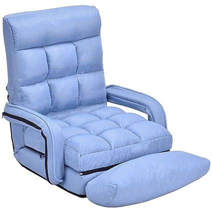 Astonishing Amazon Com Moon Daughter Blue Bevel Flat Lazy Chair Sofa Short Links Chair Design For Home Short Linksinfo