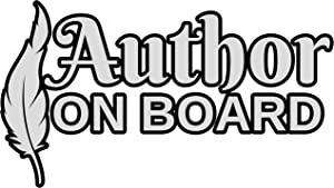 4 All Times Author On Board Automotive Car Decal for Cars, Trucks, Laptops (8.0 W x 4.6 H)