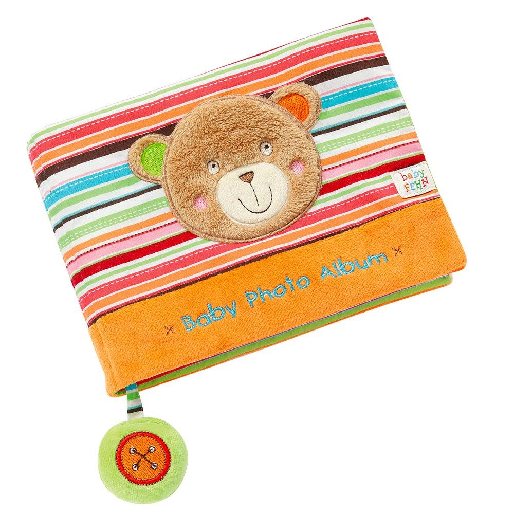 Fehn 066333 Fotobuch Löwe/Weiches Soft-Bilderbuch für 6 Fotos á 10x15 cm/Spielerisch Gesichter merken und Namen lernen für Babys und Kleinkinder ab 0+ Monaten/Maße: 20x15cm Fehn GmbH & Co. KG