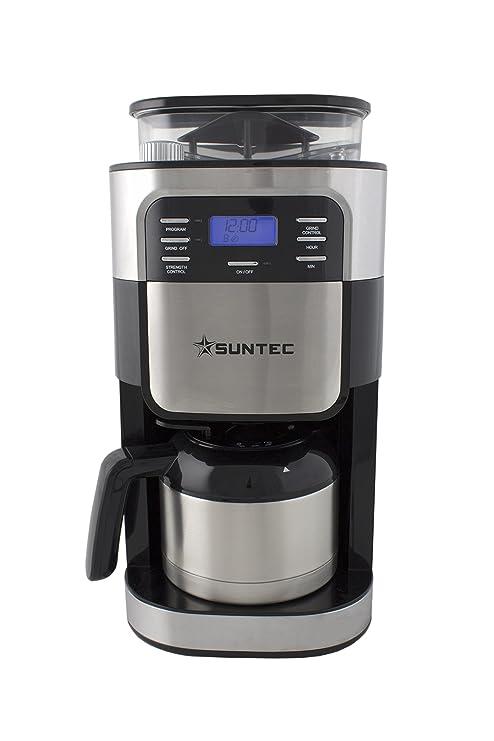 Suntec Wellness KAM-8274 Design Molinillo y cafetera de filtro, Negro