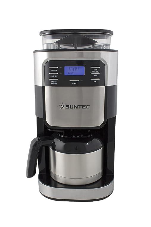 Perfect SUNTEC Mahlwerk Filter Kaffeemaschine KAM 8274 Design [Für Bohnen + Pulver,