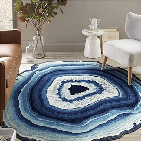 Peachy Amazon Com Jixwu Round Rug Coffee Table Living Room Sofa Creativecarmelina Interior Chair Design Creativecarmelinacom