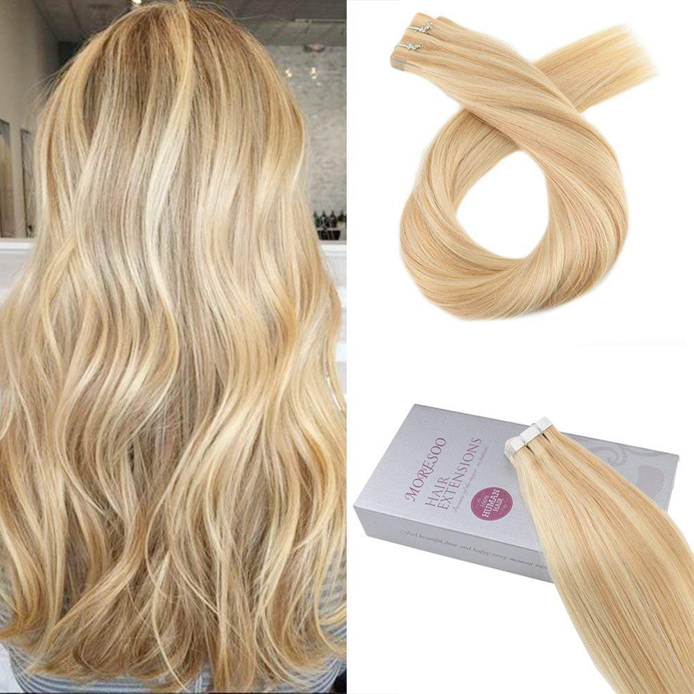Amazon Moresoo 14 Inch Tape In Highlighted Hair Extensions