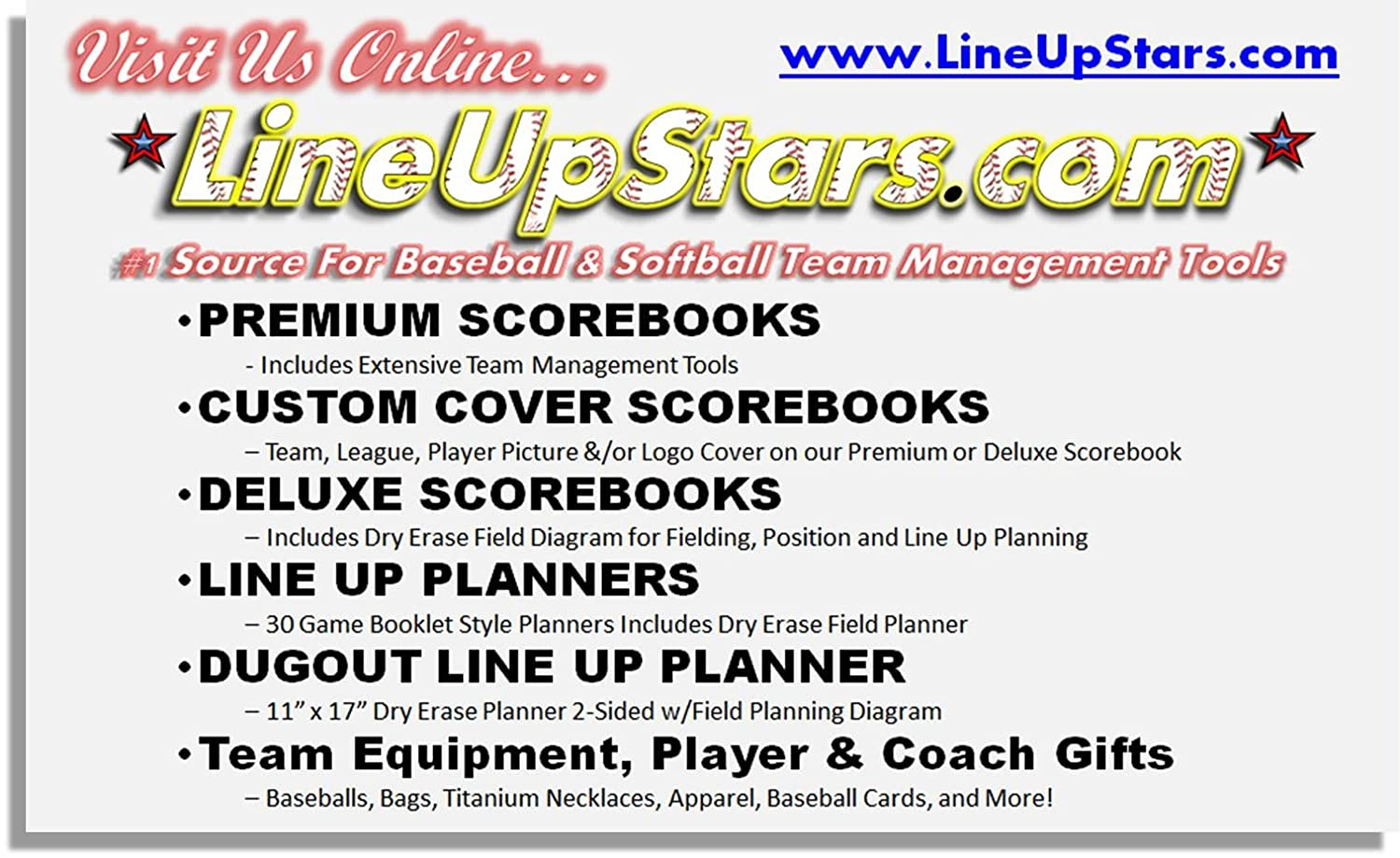 Amazon dugout line up planning chart 11 x 17 laminated dry amazon dugout line up planning chart 11 x 17 laminated dry erase chart sports outdoors pooptronica Gallery