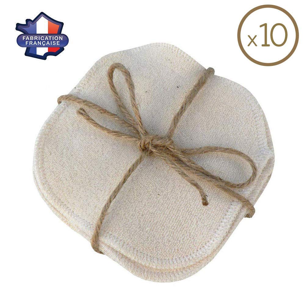 MODULIT Washable Make-up Remover Pads x10, Organic Cotton, Reusable and Ecological