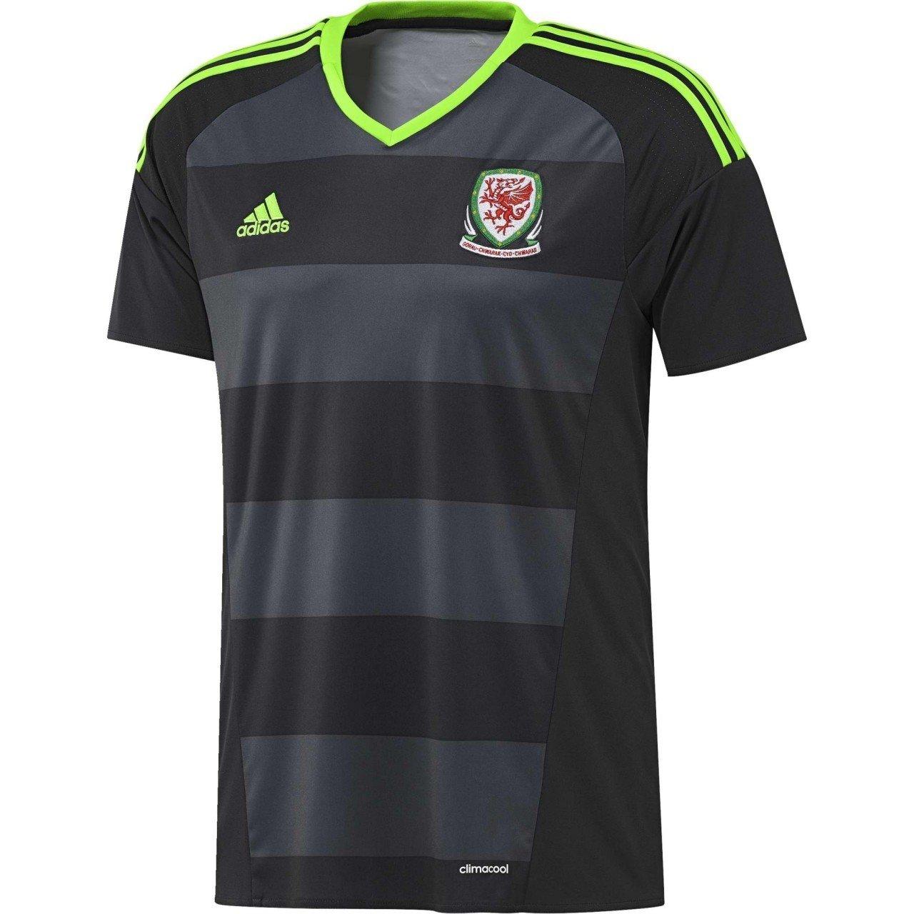 timeless design 504b2 c0a39 2016-2017 Wales Away Adidas Football Shirt, Jerseys - Amazon ...
