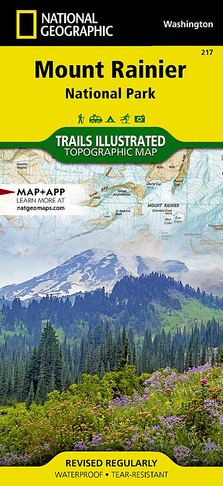 a1c872a3a6f99b Mount Rainier National Park (National Geographic Trails Illustrated Map)  Map – Folded Map, April 25, 2019