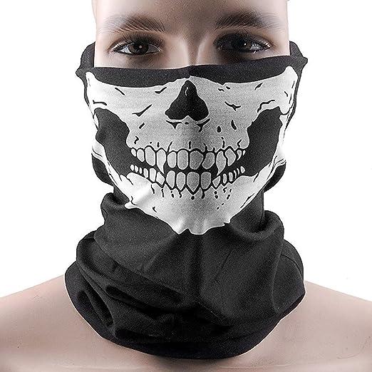 Doutop Paintball Mask Bike Mask Skull Balaclava Scarf Face Mask Bandana Motorcycle Tubular Headwear Ski Skating Neck Dust Mask Pack of 2