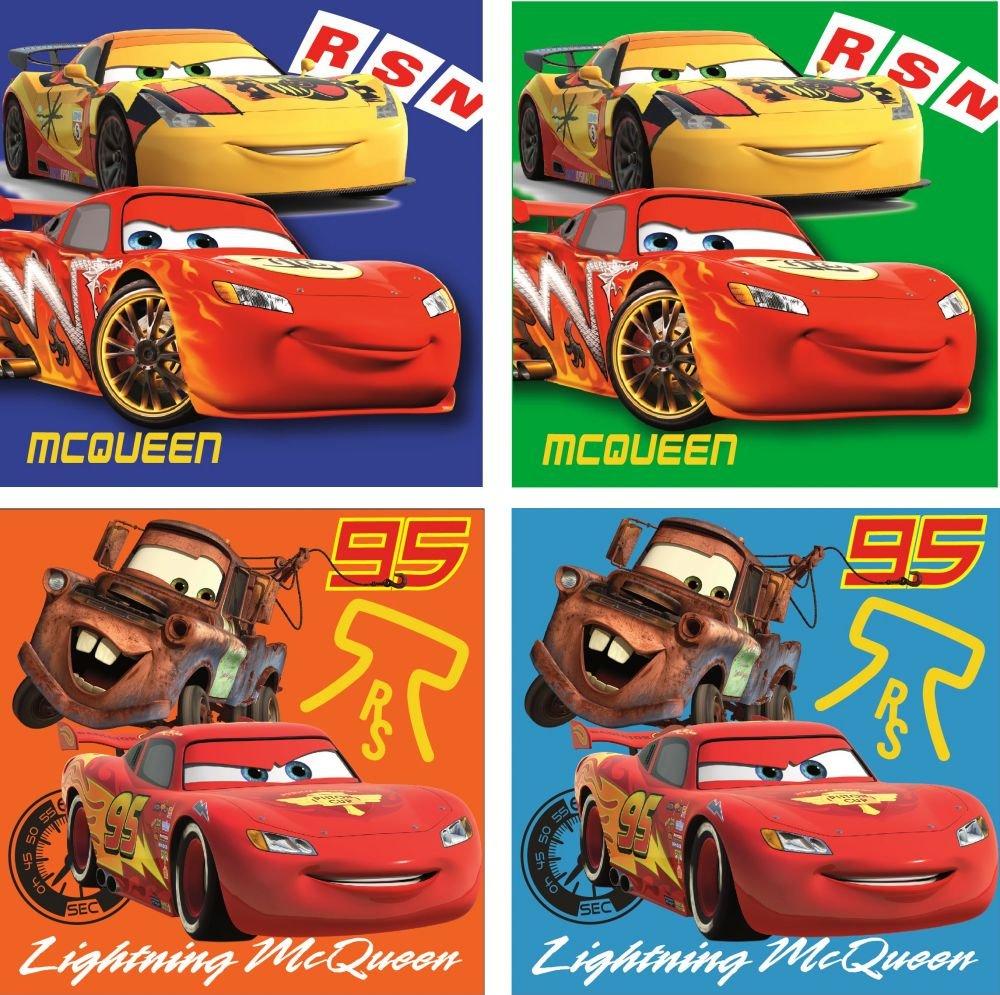 69886 Cars Disney set da 4 asciugamani