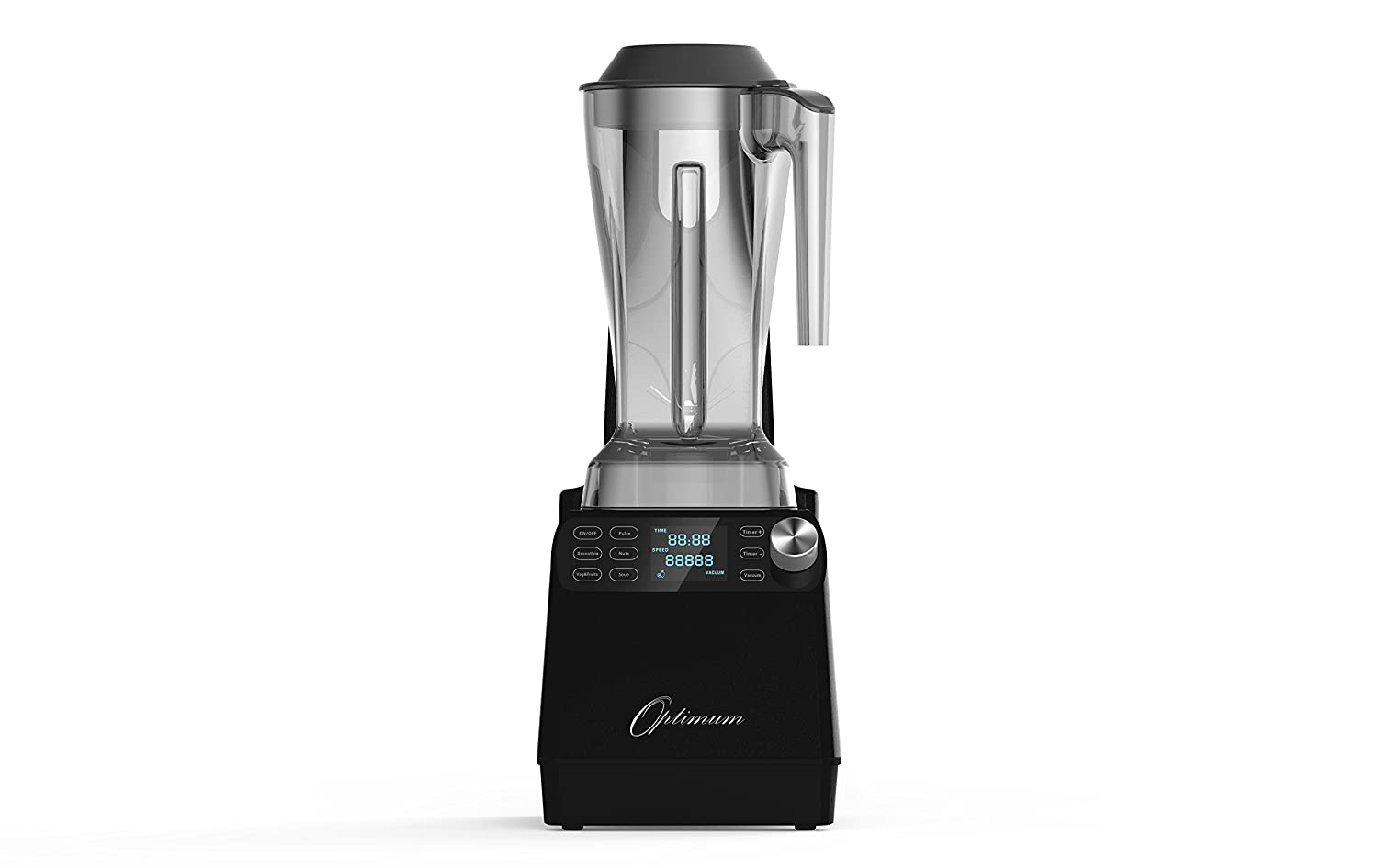 Optimum Vacuum Sealed Auto High-Speed Blender VAC2 with BPA-Free Components, Quiet Blender, Virtually No Foam, Heavy Duty Motor 2238W, Tamper Tool, 10 year Warranty (Black)