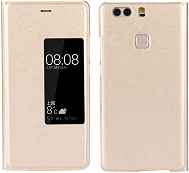 Sangrl Funda para Huawei P9 Plus, Ultradelgado Cuero de la PU Flip Cover Smartphone Touch View Window Case Cover para Huawei P9 Plus: Amazon.es: Electrónica