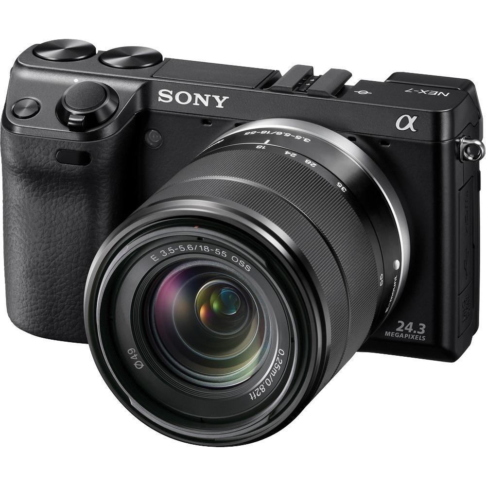 amazon com sony nex 7 24 3 mp mirrorless digital camera with 18 rh amazon com Sony NX3 Sony N Camera