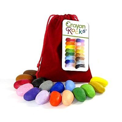 16 Crayon Rocks Sachet Velours Rouge