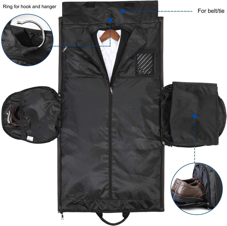 LILINSS Mens Suit Bag Foldable Waterproof Oxford Cloth Portable Travel Bag Travel Storage Bag 45L