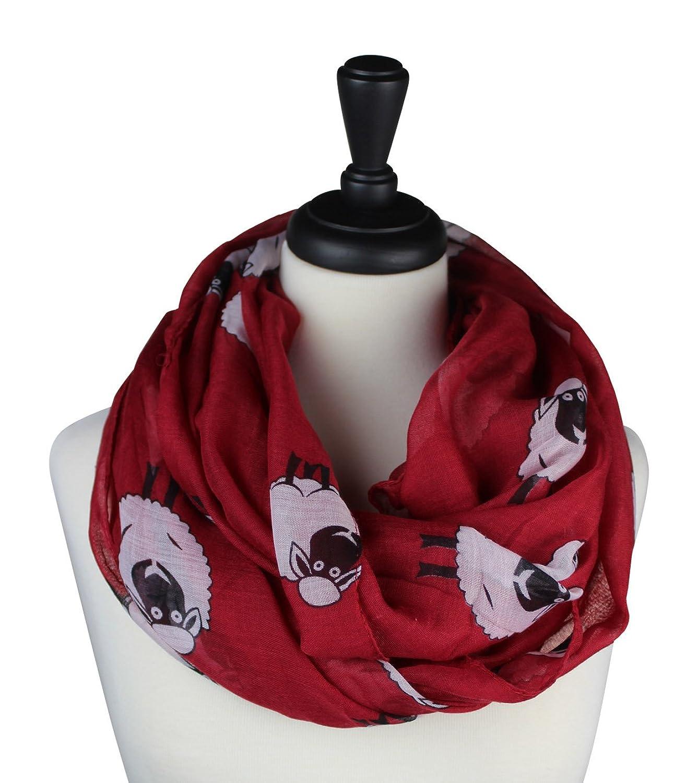 KnitPopShop Women's Fashion Light Infinity Sheep Sheer Scarf