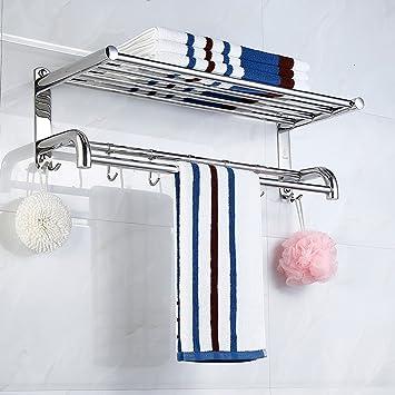 Toallas Acero Inoxidable Toallero baño Estante Accesorios de baño 40/50 / 60cm: Amazon.es: Hogar