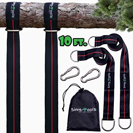 New Extra Long10 Ft Strap Holds 2800 Lbs Fast /& Easy Way to Hang Any Swing Set 10 Ft Tree Swing Straps Hanging Kit for Outdoor Swing with Free Swivel Hook
