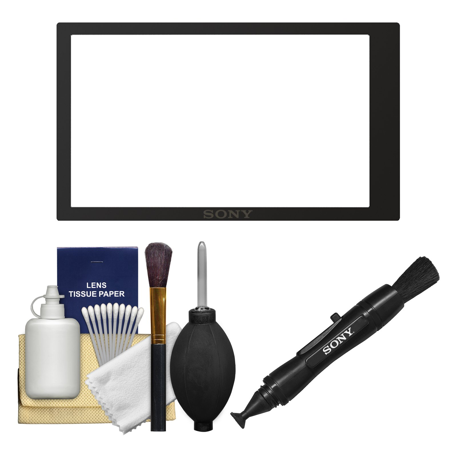 Sony PCK-LM17 Semi-Hard Sheet LCD Screen Protector for Alpha A6000 & A6300 Camera with LensPen + Cleaning Kit by Sony