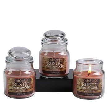 Hosley Lot De 3 Rustique Bois De Santal Tres Parfume 75 1