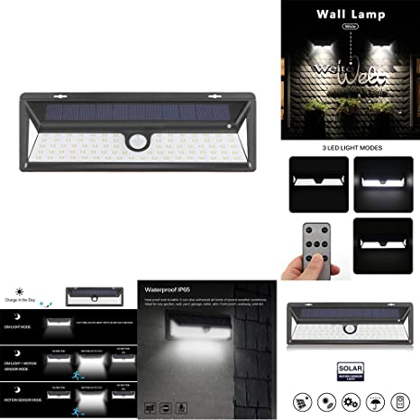 Pleasing Amazon Com Ourleeme Solar Powered Led Wall Light 600 Lumens Wiring Database Numdin4X4Andersnl