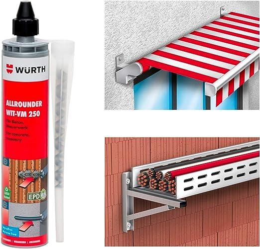 Wurth - Anclaje químico WIT-VM 250 300 ml Art. 0903450201: Amazon.es: Bricolaje y herramientas
