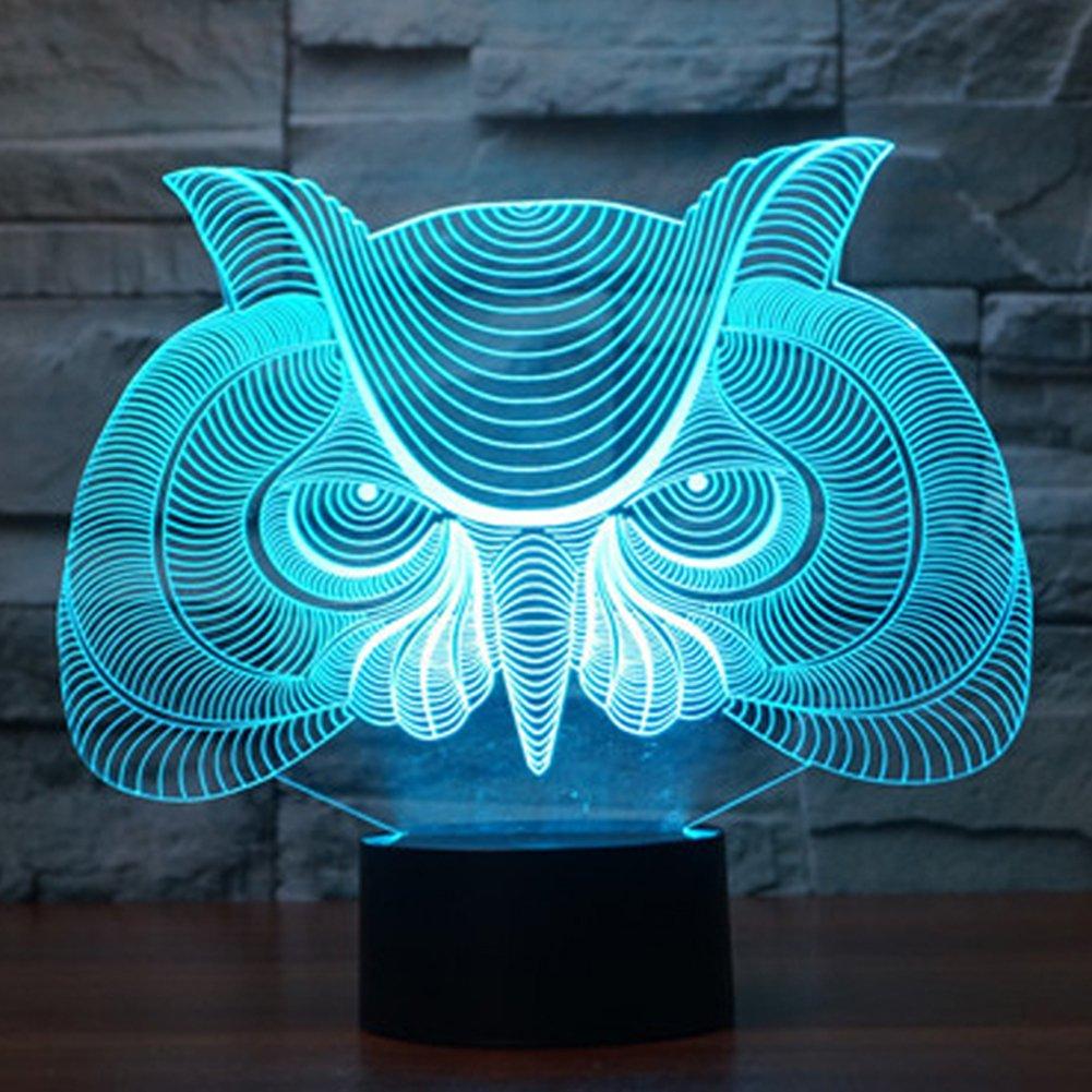 馬/ Owl Night Light and交換可能プレート YKLLGT446-1 B0753CZBGB 11316 Owl-3 (Package) Owl3 (Package)
