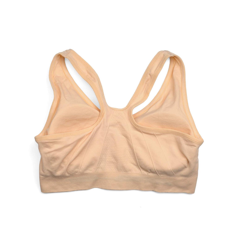 Womens Zip Front Sports Bra Wireless Post-Surgery Bra Active Yoga Sports Bras WANAYOU