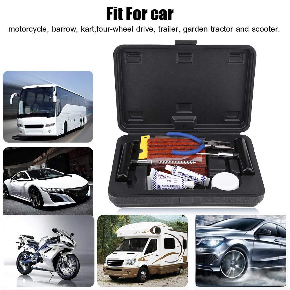 Kit di strumenti per la riparazione della perforazione dei pneumatici Tubeless per Car Bike Van Truck Moto Qiilu Auto Attrezzi e kit per riparazione pneumatici