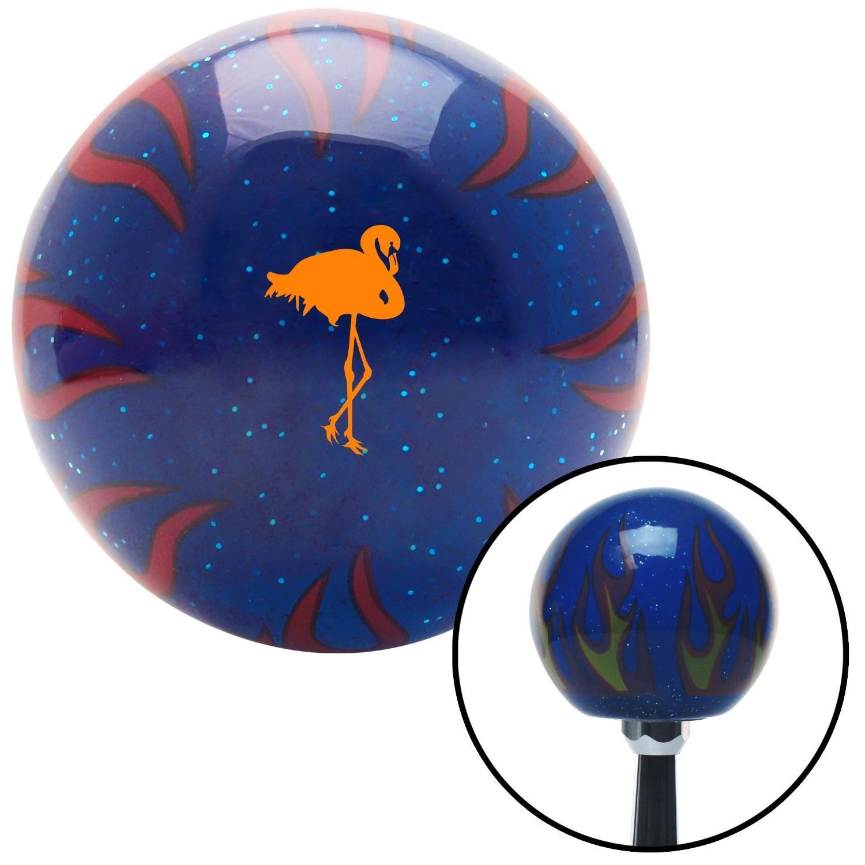 Orange Flamingo Blue Flame Metal Flake American Shifter 297635 Shift Knob