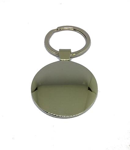 Llavero Abarth de metal macizo cromato- Mis. 42 x 83 mm ...