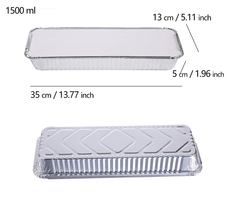 Aluminium Foil Platter x 20-35.2x24.7x2.4cm 13.8x9.7x0.9inch