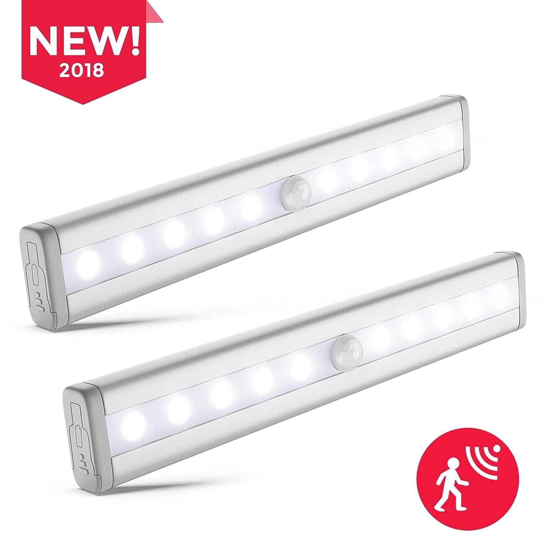 B.K.Licht 2x LED Schrankbeleuchtung | Bewegungsmelder | Schranklicht ...